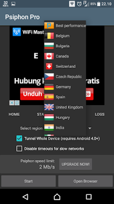 How to get Free Internet With psiphon Pro on Android