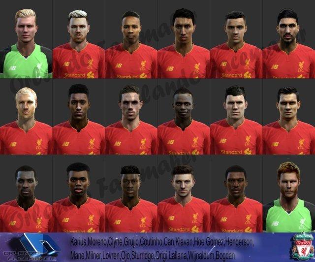 PES 2013 Liverpool Big Facepack 16/17