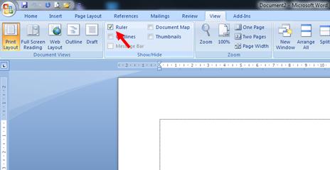 Cara Menampilkan Ruler/Penggaris di Microsoft Word