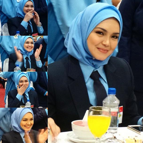 Gambar Datuk Siti Nurhaliza Comel Berpakaian Pengawas