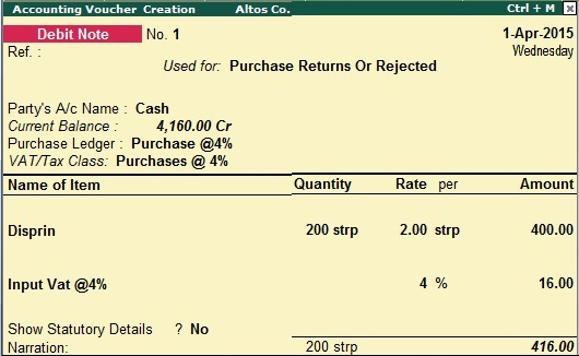Vat return or vat used in credit debit note or vat in goods return now you can see the vat report altavistaventures Image collections