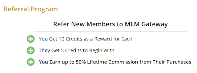 MLM Gateway referral program overview