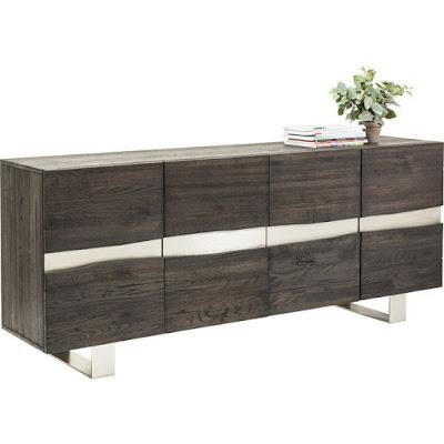 moderný nábytok Reaction, nábytok z dubového dreva, nábytok z dreva a kovu