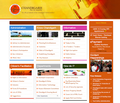 Chandigah Administration website