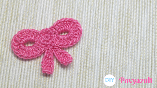 [Crochet] How to Crochet a Cute Bow Application.