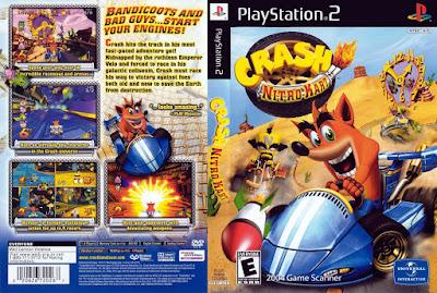 Jogo Crash Nitro Kart PS2 DVD Capa