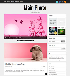 Main Photo Blogger Responsive Templates