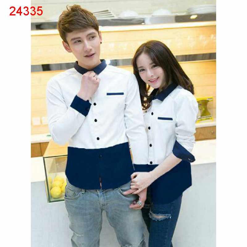 Jual Kemeja Couple Fullo Whina White - 24335