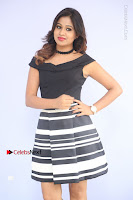Actress Mi Rathod Pos Black Short Dress at Howrah Bridge Movie Press Meet  0051.JPG