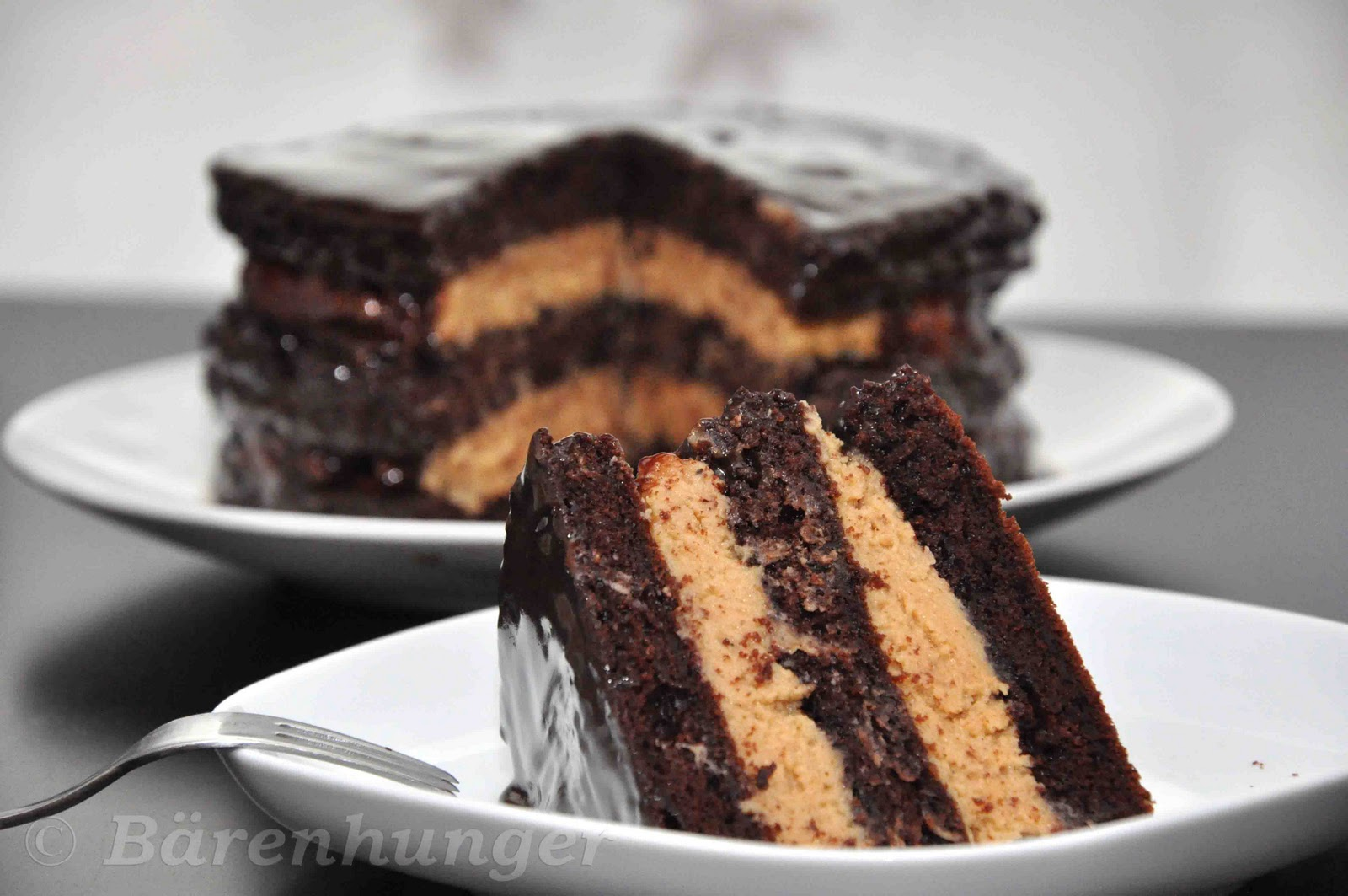 Chocolate Peanut Butter Layer Cake Barenhunger