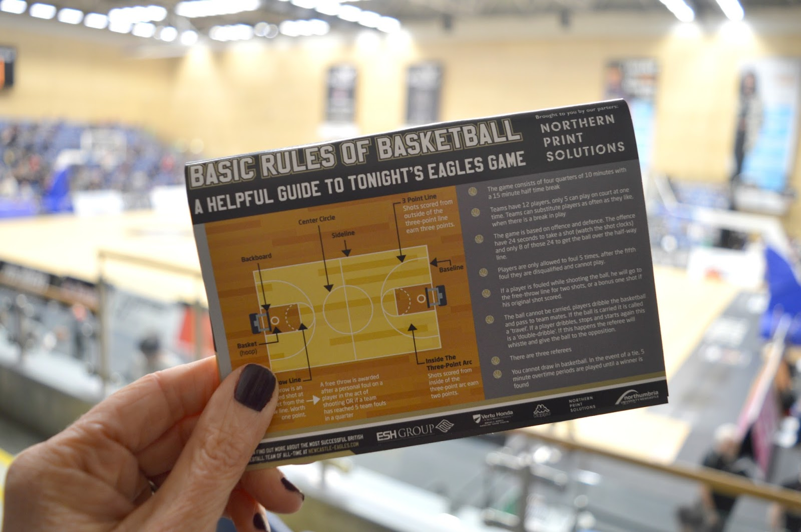Newcastle Eagles Basketball Game  - Northern Print Solutions