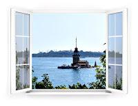 Camları çıtalı pvc pencere, İstanbul kız kulesi ve boğaz manzaralı pencere