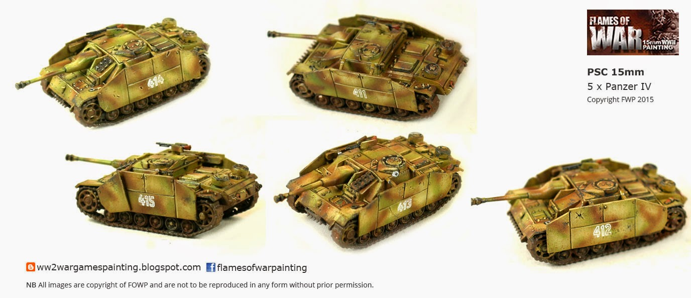 Plastic Soldier Company 15mm Panzer IV's painted by FOWP