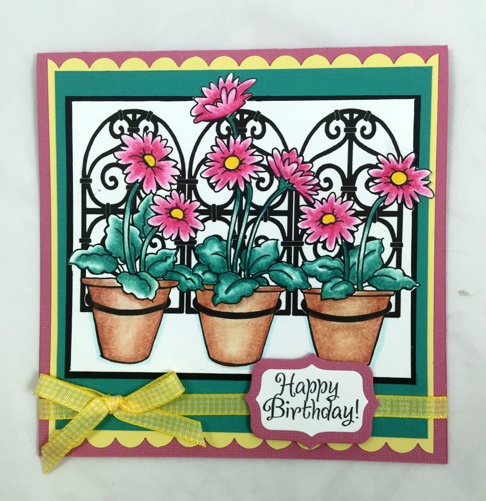 Stamping & Scrapping In California: Three Daisies