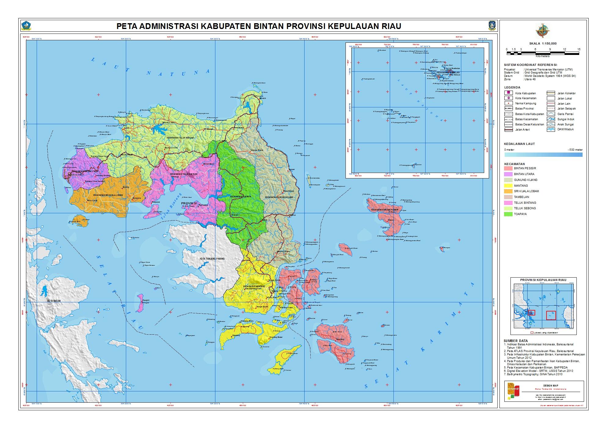 Peta Kota: Peta Kabupaten Bintan