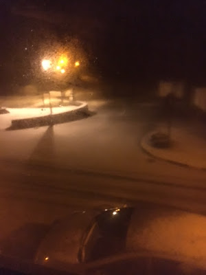 Photo of Winter snow in County Clare, Ireland at night