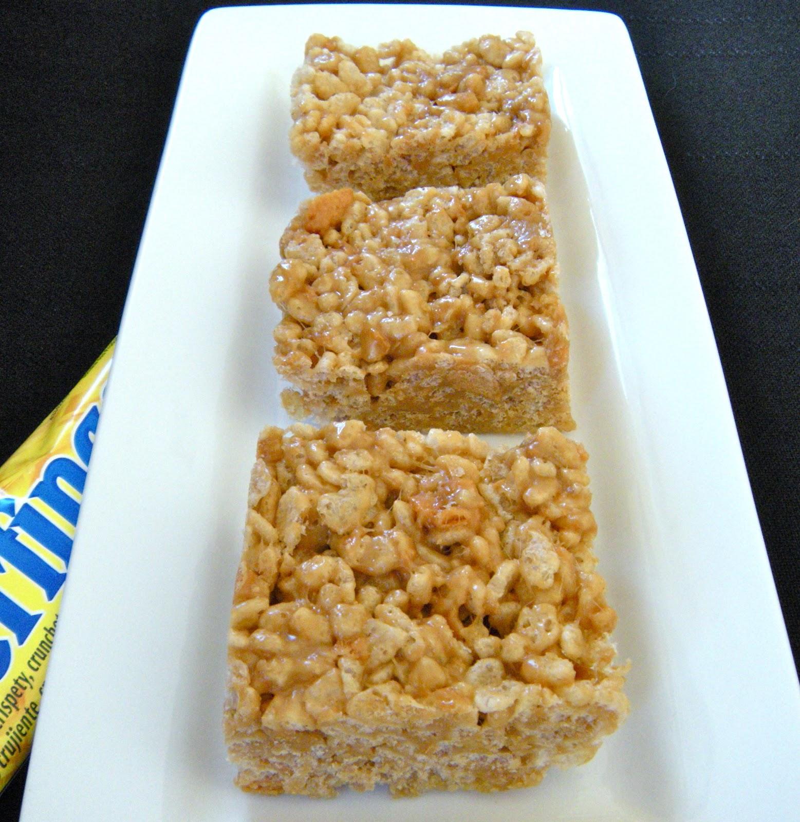 Butterfinger Rice Krispie Treats