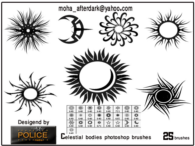 Celestial bodies brushes ~ POLICE Media