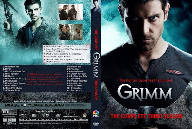 Capa DVD Grimm Terceira Temporada Completa