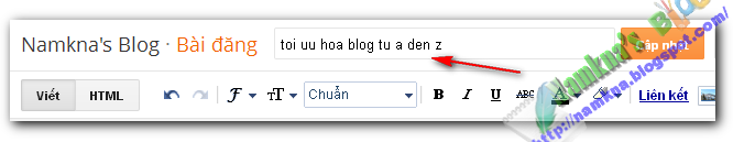 Bài 4. Blogger – Hướng dẫn SEO cho Blog seo toi uu hoa URL blogspot tu a den z namkna blogspot com 2