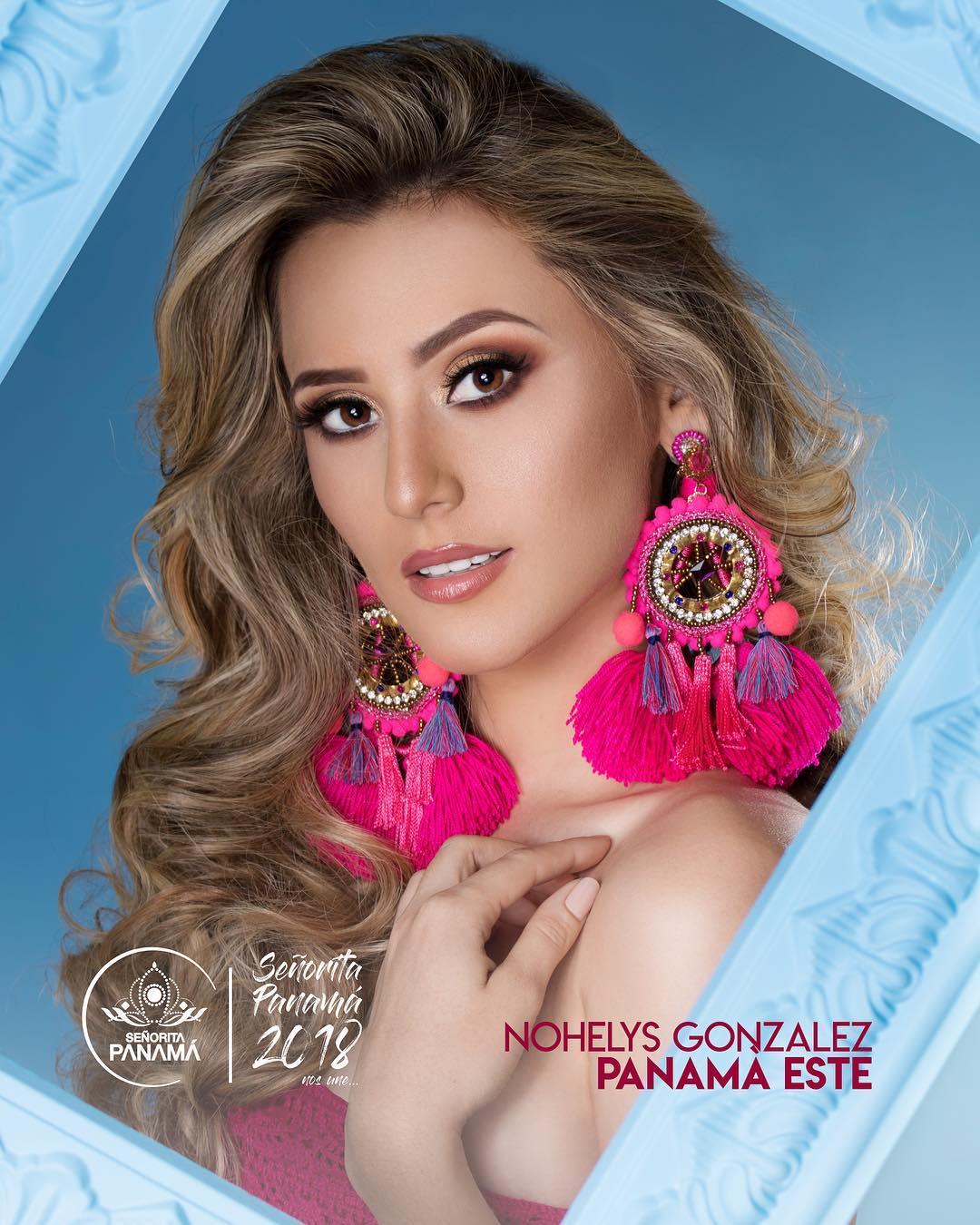 señorita miss colombia 2018 candidates candidatas contestants delegates Miss Panamá Este Nohelys González