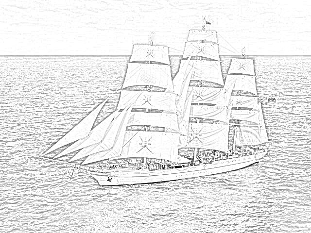 british sailing warship coloring pages - photo#8