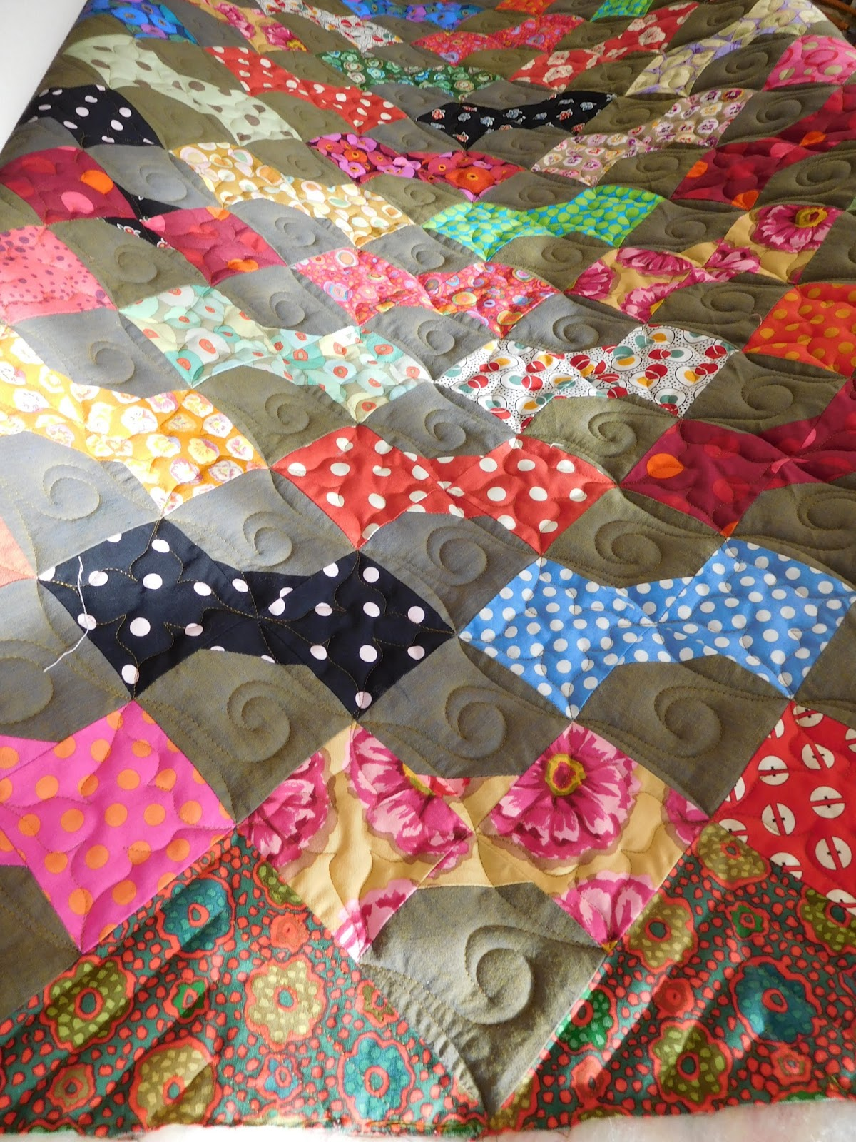 Grass Roots Quilting: Nifty's Bow Ties : cotton warp quilt - Adamdwight.com