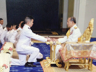 Leechaianan is commissioned as an officer in the Royal Thai Police.