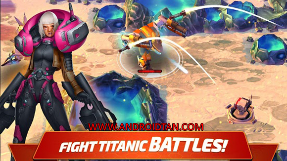 Free Download Forge of Titans: Mech Wars Mod Apk v1.3.3 (Unlimited Money) Android Terbaru Full Latest Version 2017