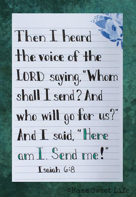 Scripture Writing, Isaiah 6:8
