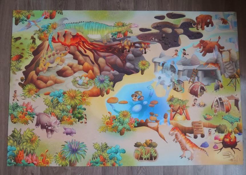 Spielteppich und Kinderteppiche: Spielteppich Dinosaurier - Spielmatte DINO für fantasievolle ...