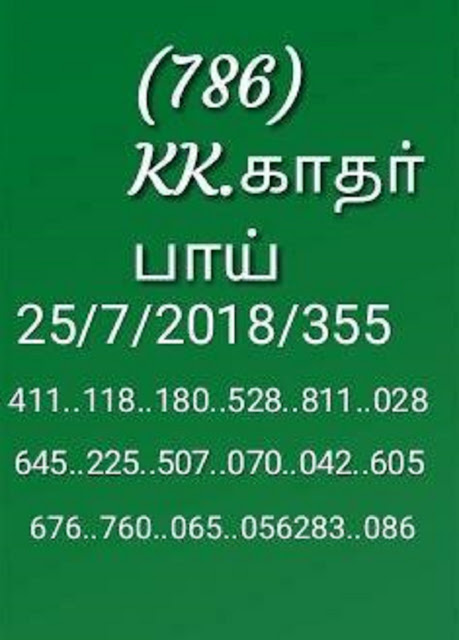 akshaya ak-355 on 25-07-2018 kerala lottery abc guessing by KK