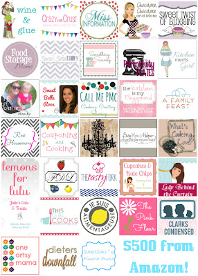 Enter the HUGE Five Hundred Dollar Giveaway with these great bloggers!