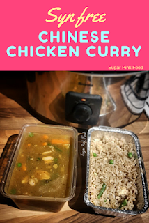 Slimming World Chinese Chicken curry egg fried rice recipe