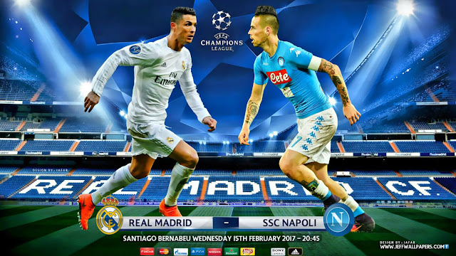 Real Madrid x Napoli Champions League