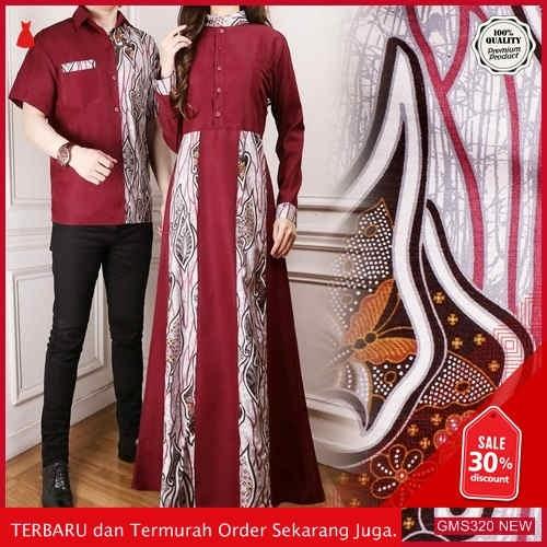 GMS320 MKFXN321B60 Batik Couple Seragam Pria Wanita Dropship SK1527161783