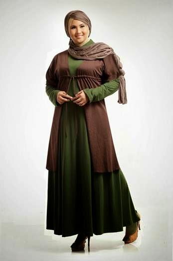 Contoh desain busana muslim untuk orang gemuk