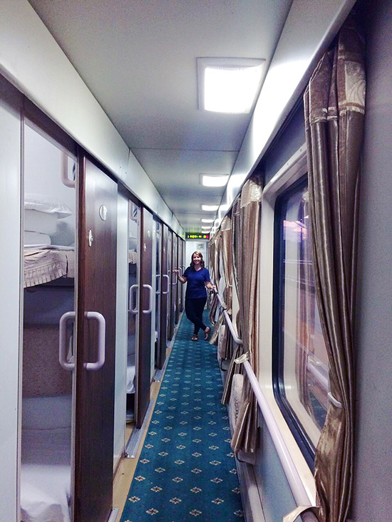 sleeper train in China