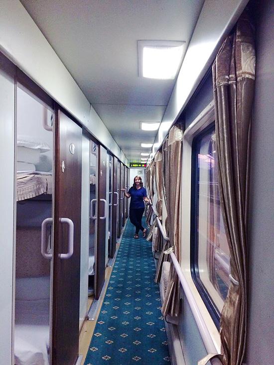 sleeper train in China