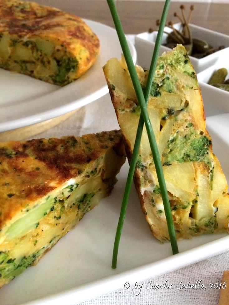 tortilla-brócoli-pimentón