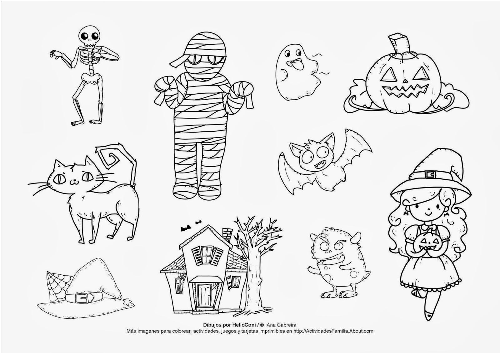 Halloween - Dibujos para colorear   Ciclo Escolar