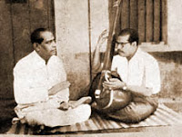 Manna Dey with his uncle K. C. Dey