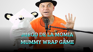 Juego de la momia, FUNDRAISING GAME, Mummy wrap game