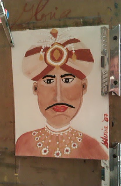 """Maharajah"" sketch by Gloria poole; yr 2007"