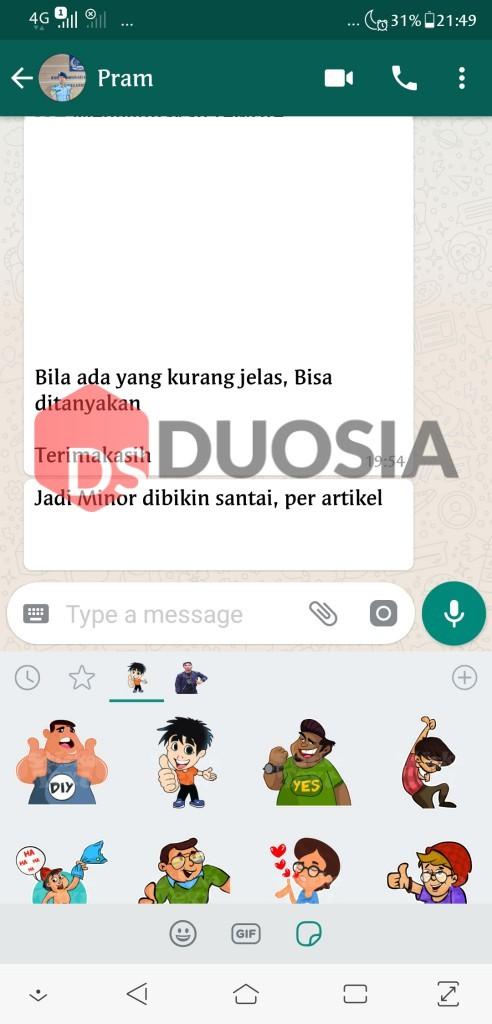 menampilkan sticker pada whatsapp