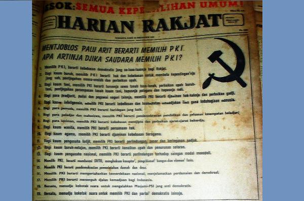 19 Janji PKI di Pemilu 1955 dan Daftar Kekejamannya
