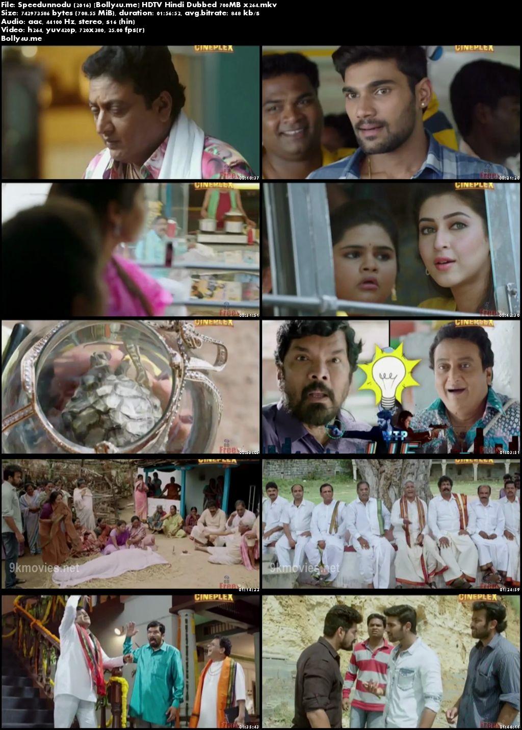 Speedunnodu 2016 HDTV 350MB Hindi Dubbed 480p Download