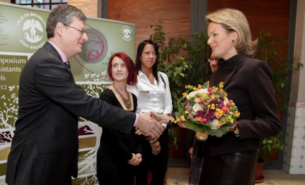 Crown Princess Mathilde attended an European Symposium for Family Assistants
