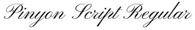 Pinyon font