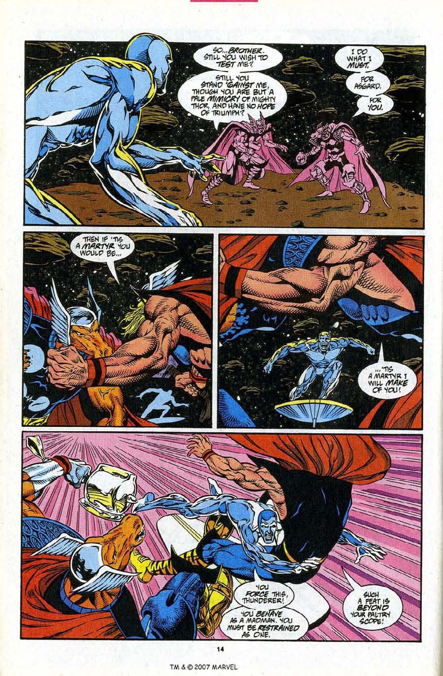Read online Silver Surfer (1987) comic -  Issue #86 - 16